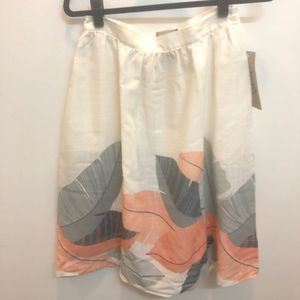 Vera Collection Palm Leaves Skirt 10 Vintage NWT